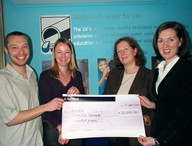 WaterAid cheque
