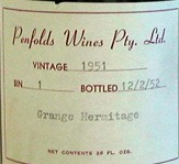 1951 Grange Hermitage Bin 1