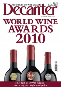Decanter Magazine October 2010 cover