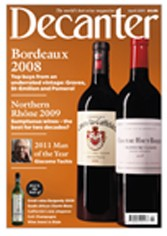 Decanter magazine cover April 2011