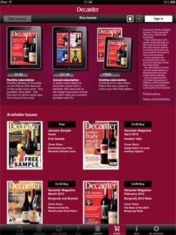 Decanter iPad