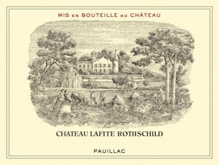 Bordeaux 2011 Chateau Lafite Rothschild bottle label