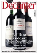 Decanter May cover homepage