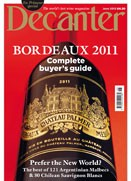 Decanter June cover, Decanter June magazine cover
