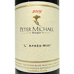 Peter Michael Winery L'Après Midi 2009