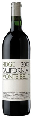 Bordeaux blends, Ridge Mont Bello 2008