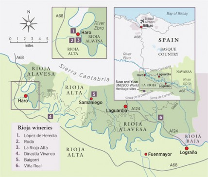 Rioja winery map
