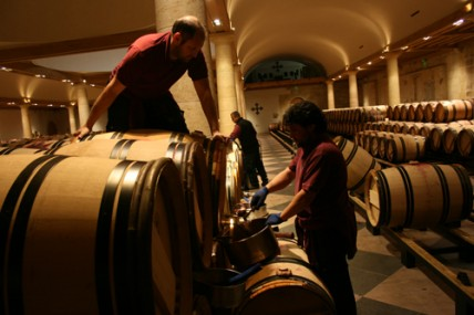 Racking -- La Mission Haut Brion