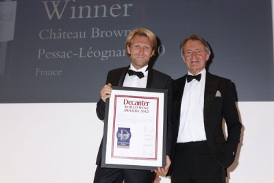 Chateau Brown wins a DWWA International Trophy