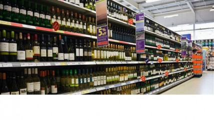 alcohol price, wine, supermarket,