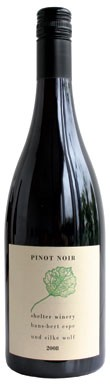 German Pinot Noir, Shelter Winery