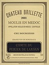 2001 Chateau Brillette, Comte du Perier de Larsan, Cru Bourgeois, Moulis-en-Medoc