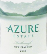 2008 Azure Estate, Sauvignon Blanc, Marlborough