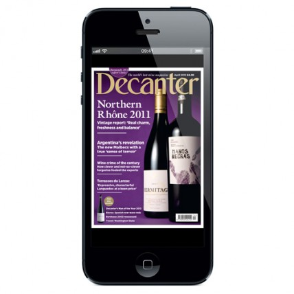 Decanter on iPhone